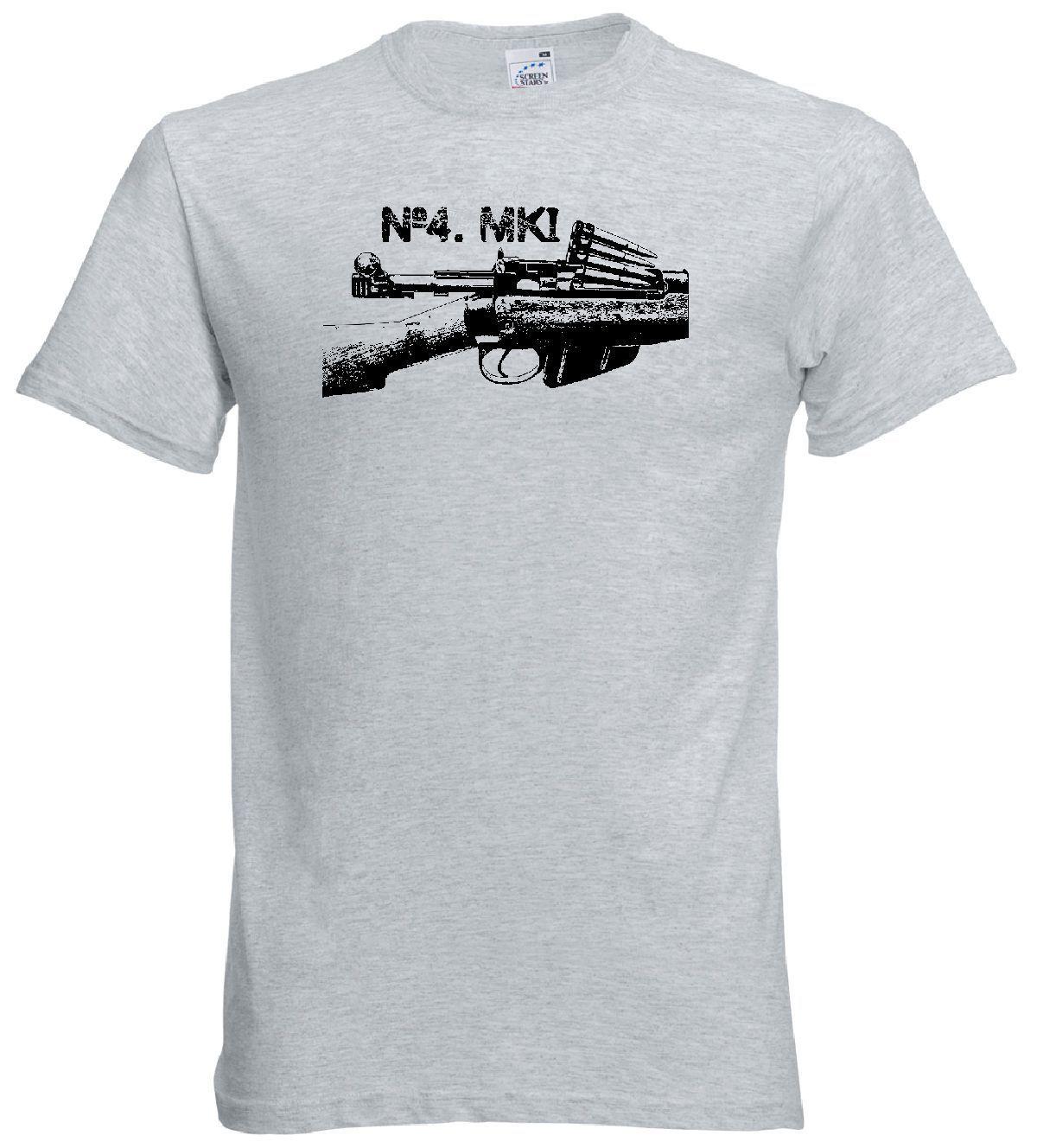 2019 verano gran oferta camiseta para hombre Enfield No4 Mk1 Rifle camiseta WWII británico 303 Longbranch, Jungle Carbine