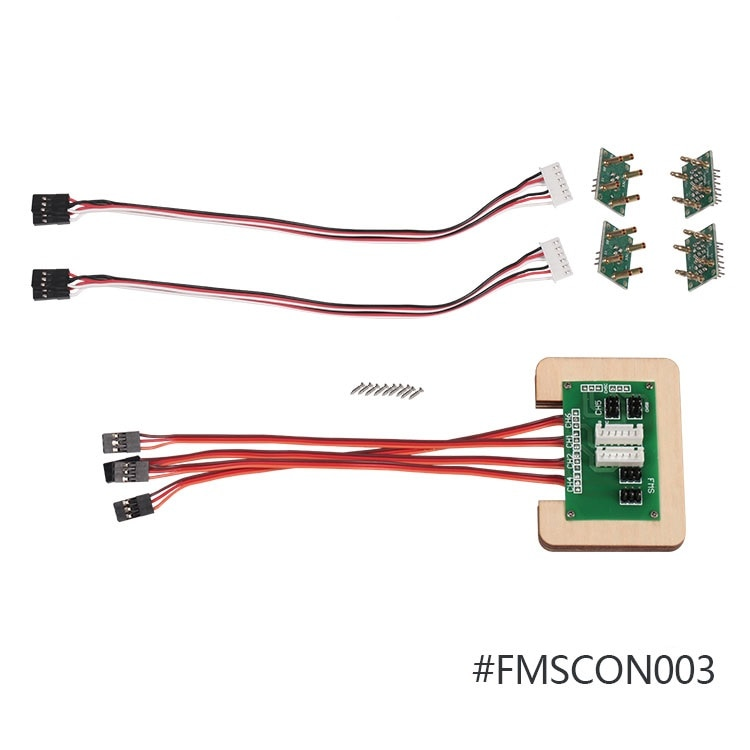 FMS Sistema de conector múltiple FMSCON003 para 1500mm P47 Razorback/80mm Futura V1/2000mm Beaver RC aeroplano modelo