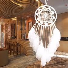 New Flower Dream Catcher Golden Orange Feather Orange Circle Sunflower Side 1 circle Wall Hanging Decoration Ornament Gift