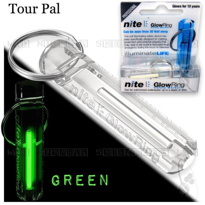 Nite Tritium Glowring llavero noche automático luz auto luminosa fluorescente Tina tritio