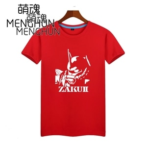 Classical animationhigh quality printing mobile suits Gundam Zick Zeon Zaku head pattern various color short sleeve t shirt AC76