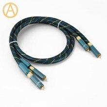 HIFI ORTOFON RCA Cable RCA Audio Interconnect Cable Ortofon 8NX Male To Male RCA Audio Cable Gold Plated RCA Plug