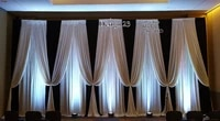 3m x 6m black with white wedding backdrop stage decoration