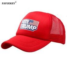 Trump 2020 Baseball Cap Stemmen Trump Amerikaanse Vlag Verstelbare Snapback Mannen Vrouwen Zon Mesh Hoed Maken Amerika Grote Weer Trucker hoed