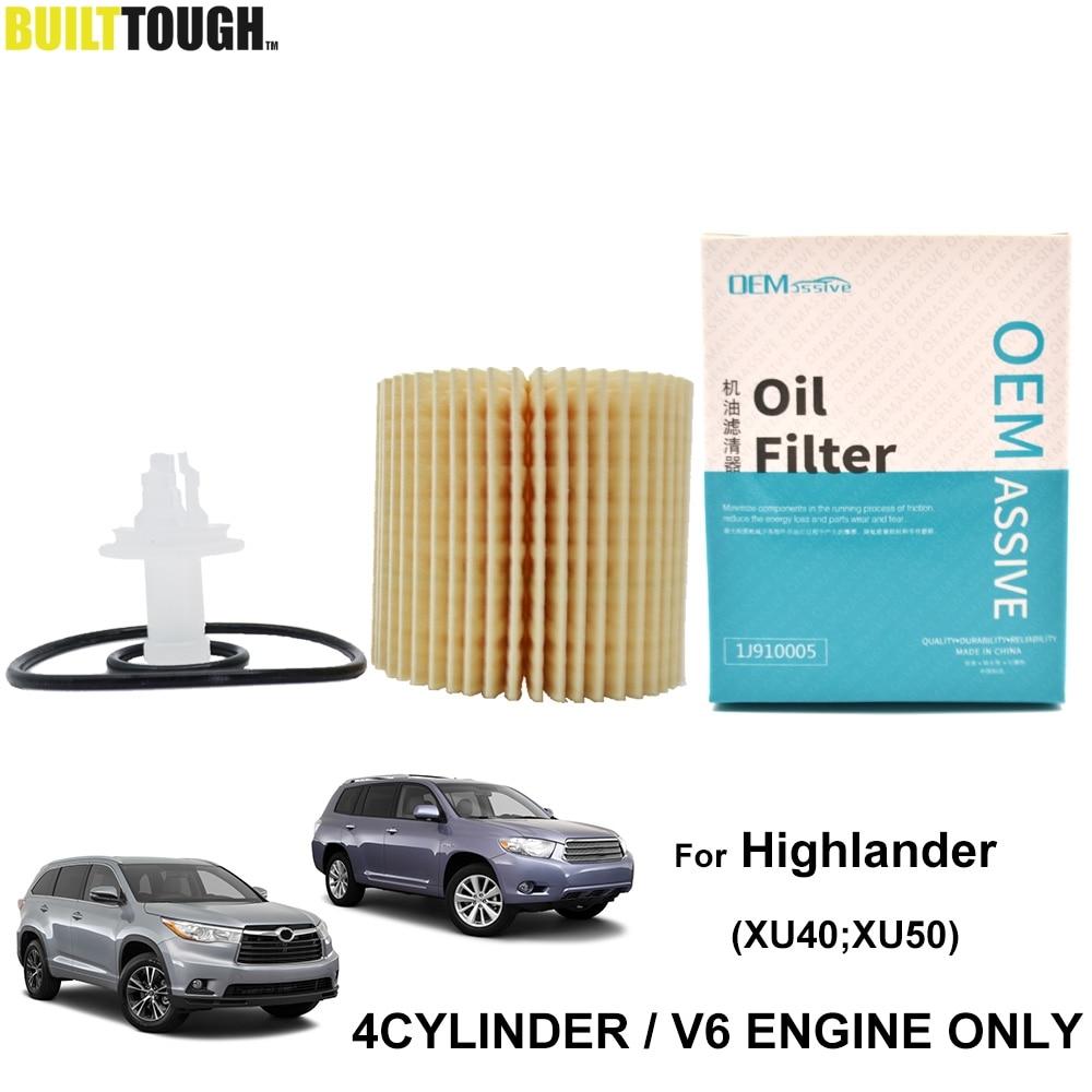 04152-YZZA1 filtro de aceite para Toyota Highlander Kluger XU40 2008, 2009, 2010, 2011, 2012, 2013 2.7L I4 1AR-FE / 3.5L V6 2GR-FE del motor