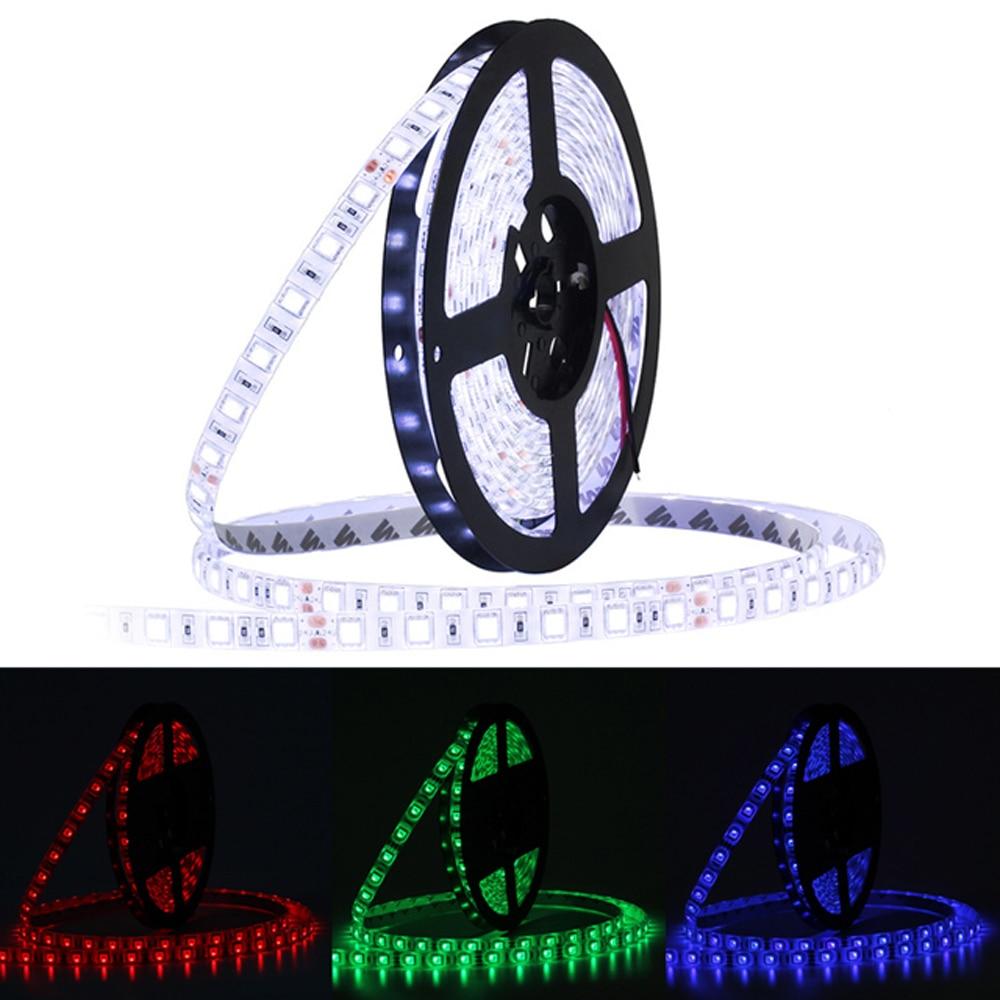Tira de LED Jiawen DC12V 60 ledes/m 5 m/lote luz LED Flexible blanco fresco RGB RGBW 5050 luz LED de