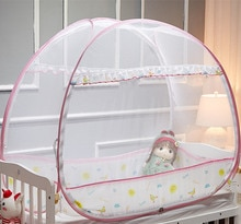 2018 New Portable Baby Crib Mosquito Netting Infant Bed Anti-mosquito Tent Mongolian Yurts Children Mosquito Net Folding Camping