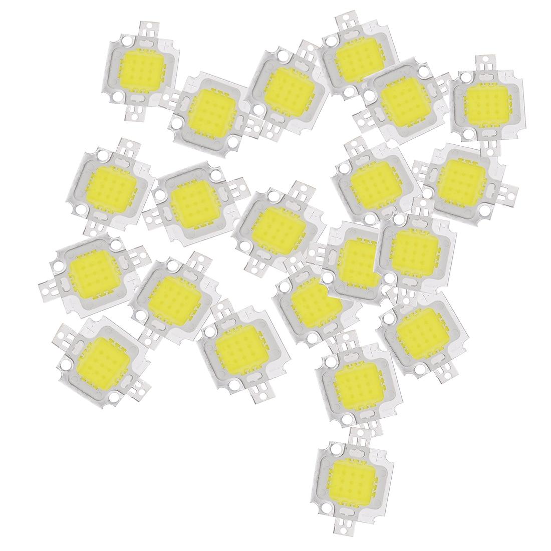 20 шт. 10 Вт светодиодный чистый белый высокой мощности 1100LM светодиодный светильник SMD чип лампа DC 9-12 в 6000-6500K супер светодиодный светильник для замены ламп