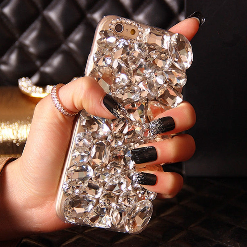 Para Huawei Honor 8 9 lite 7X10 7C 7A pro Y9 Y7 Y6 Prime Y5 2018 Glitter Diamond Crystal strass funda trasera suave