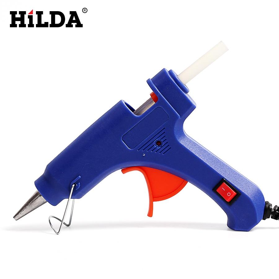 20 W חם ממיסים אקדח דבק עם 7mm x 100mm חם להמיס דבק מקלות IndustrialThermo חשמלי טמפרטורת חום כלים מיני רובים