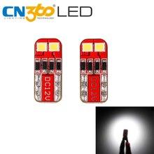 CN360 lumière de voiture SMD T10 W5W   2 pièces, ampoule 168 194 6000, phare de voiture, lampe de lecture de Parking, blanc K