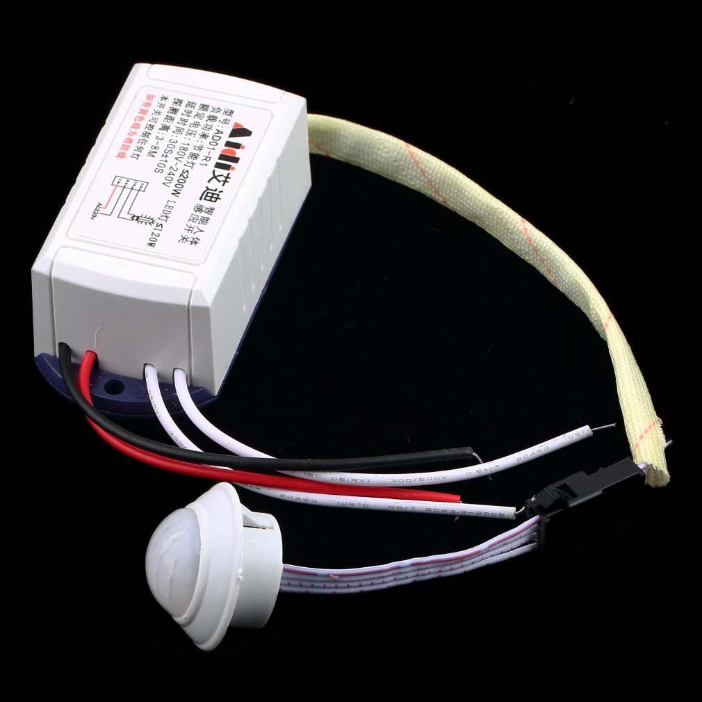 New 1pc Sensor Intelligent Sensing Switch Body Light Motion IR Infrared Module hot sale Body Sensor Intelligent Switch