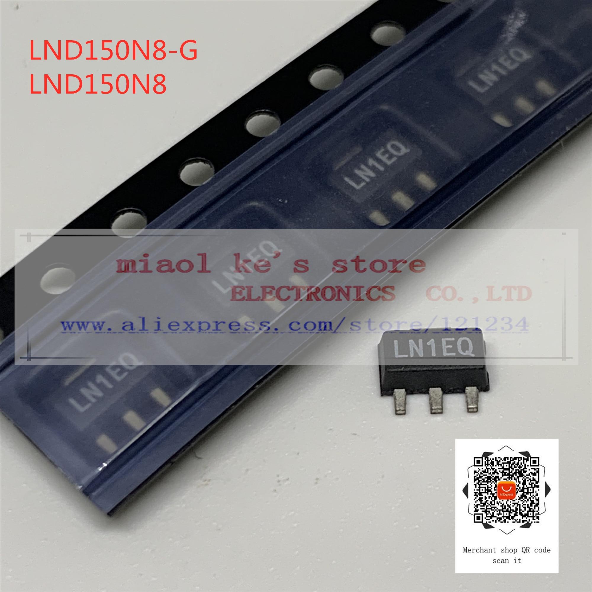 [5pcs/1lot or 10pcs/1lot]100%New original; LND150N8-G LND150N8 - MOSFET N-Channel 500V 30MA(Tj) 1.6W(Ta) SOT89-3/TO-243AA