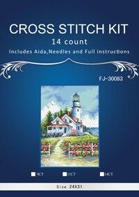 Высокое качество Прекрасный Счетный крест стежка комплект живописный Маяк красивый дом размеры 65057
