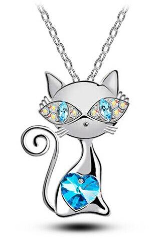 Подвеска с кристаллами в виде кошек, ожерелье, амулеты, женские модные украшения, бесплатная доставка, летняя пляжная вечеринка, высокое качество, AAAA + стразы