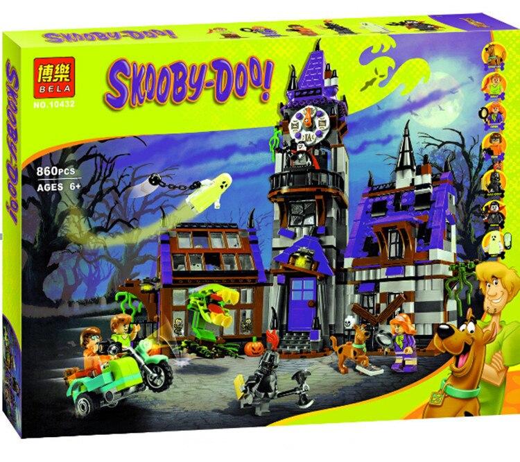 Caliente Bela 10432 Scooby Doo Casa Fantasma Misterioso Bloque de Construccion Juguetes Compatible con 75904