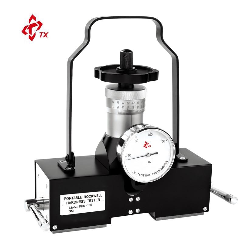 Marca tx PHR-100 tipo magnético portátil rockwell dureza tester medidor durômetro molde tubos de aço placa pressão navio