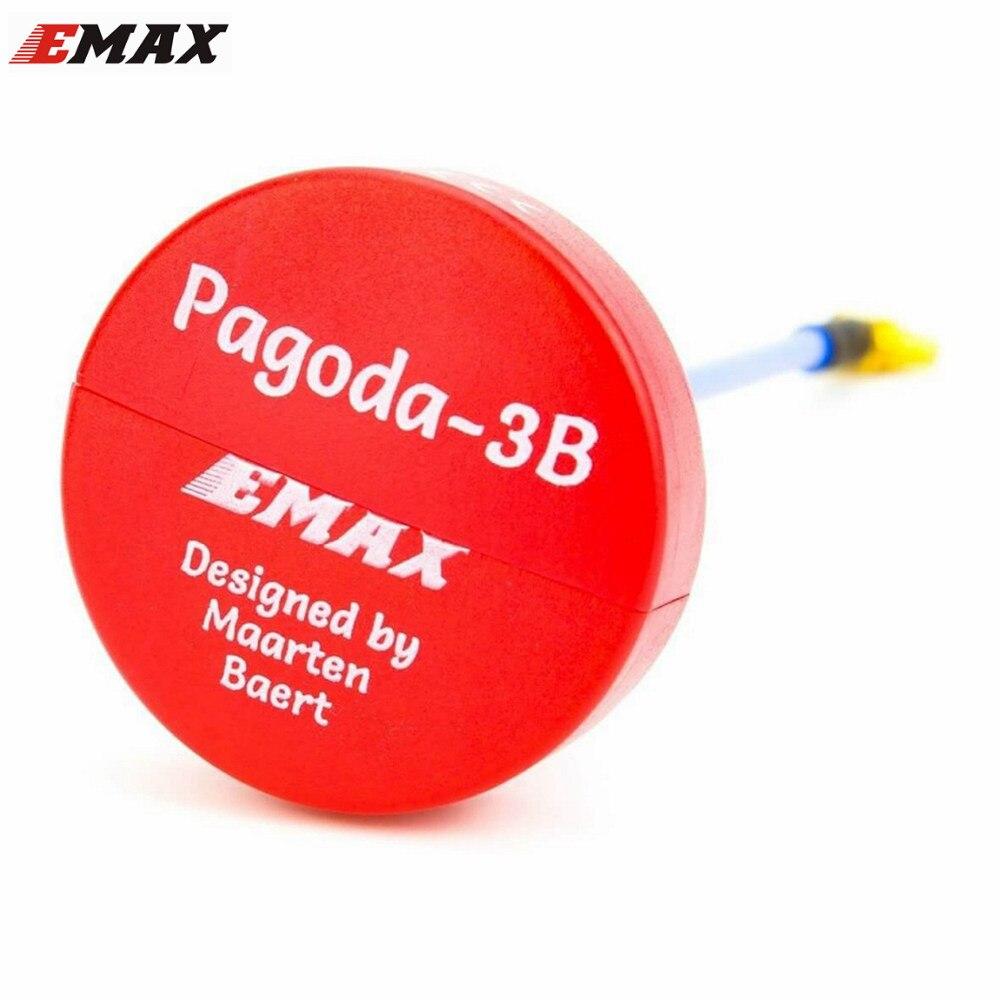Nuevos EMAX Pagoda 3B 5,8G 90mm RHCP W/MMCX Por Maarten Baert FPV VTX antena rojo