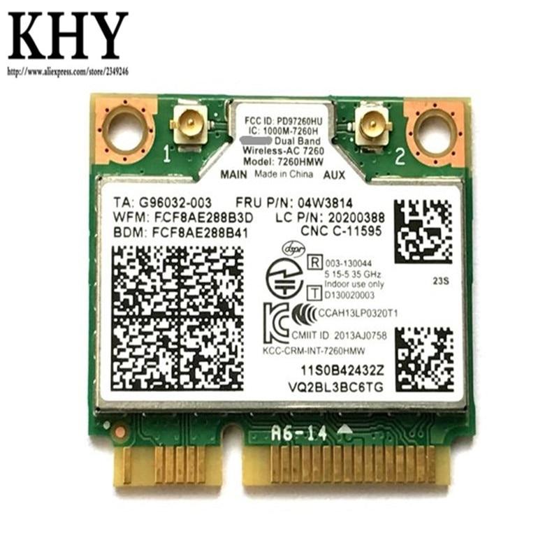 מקורי כפולה להקת 7260HMW 7260AC עבור ThinkPad S440 S540 E440 E540 X140E E63Z E93Z E73 M73 M73P M73Z M83Z M93 04W3814 04X6010