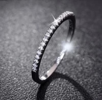 2019 fashion women 925 sterling silver rhinestone wedding engagement ring jewelry thin aros anello anillo bague anel