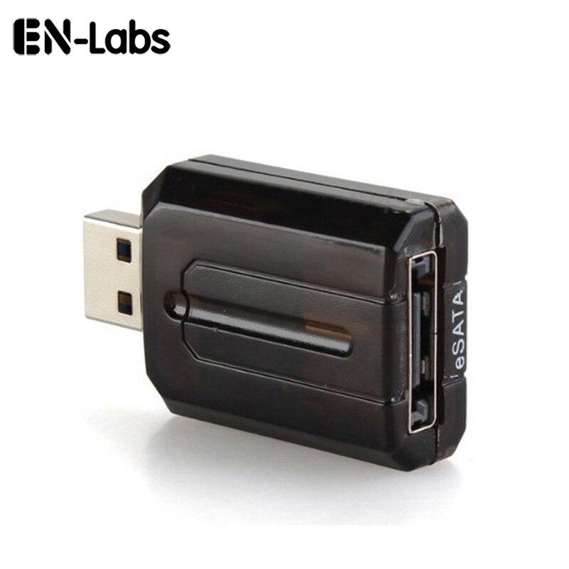 """Adaptador de interfaz En-Labs eSATA a USB 3,0 con luz LED, convertidor de adaptador de puente externo USB 3,0 a SATA para HDD de 2,5 """"3,5"""""""