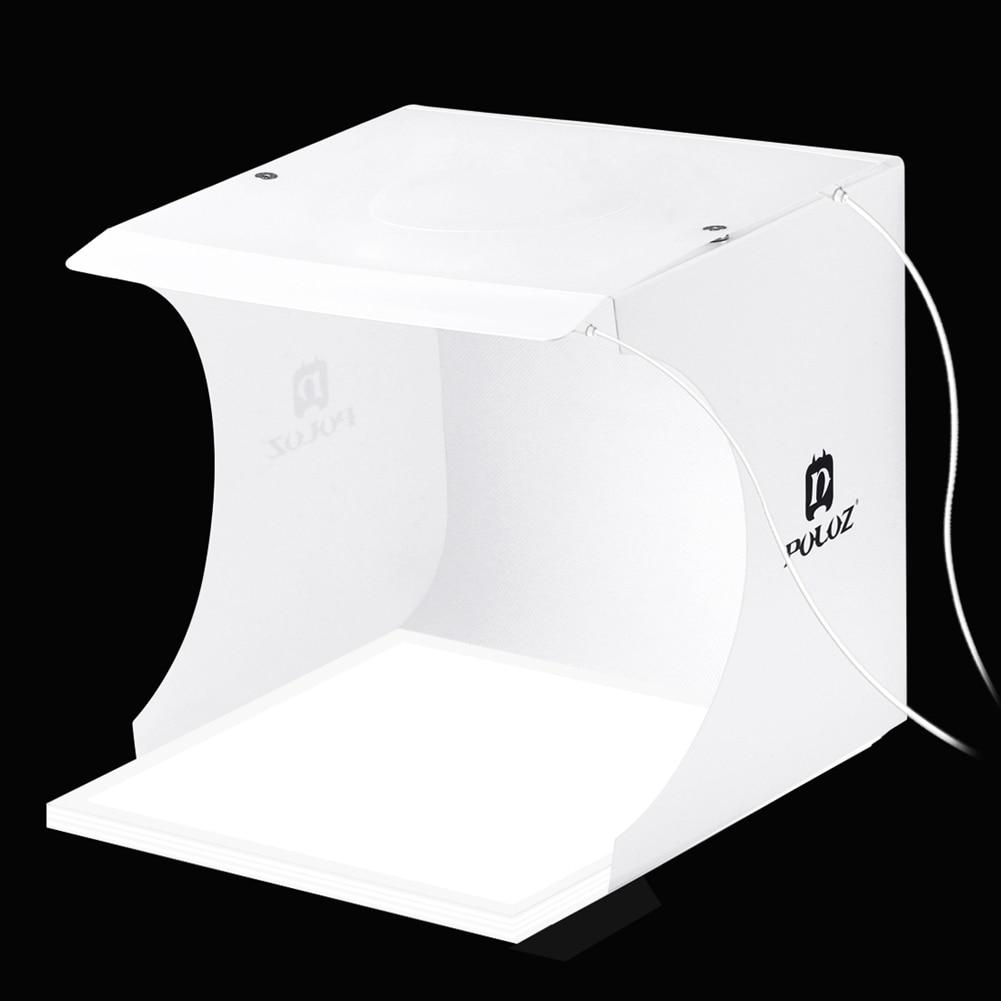 PULUZ Portable 23cm Photo 2 Panel Light Box Lighting Studio Tent Kit+22.5 Photography USB LED Shadowless Background Bottom Light