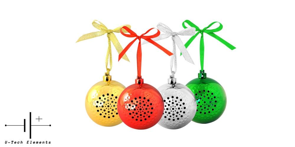 Altavoz Portátil con bluetooth, Bola de Año Nuevo, bola de Navidad