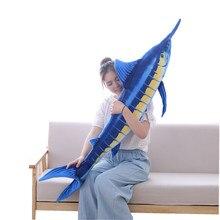 90-140cm simulé thon requin en peluche en peluche animaux de mer poissons jouets pour enfants fruits de mer magasin mascotte doux poupée jouets anniversaire