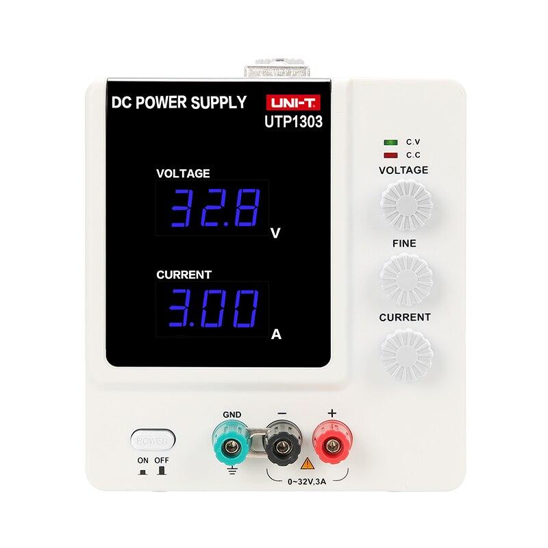 Original de alta precisión UNI-T UTP1303/1305 ajustable Digital regulado DC fuente de alimentación móvil mantenimiento de la energía 3/5A Metro