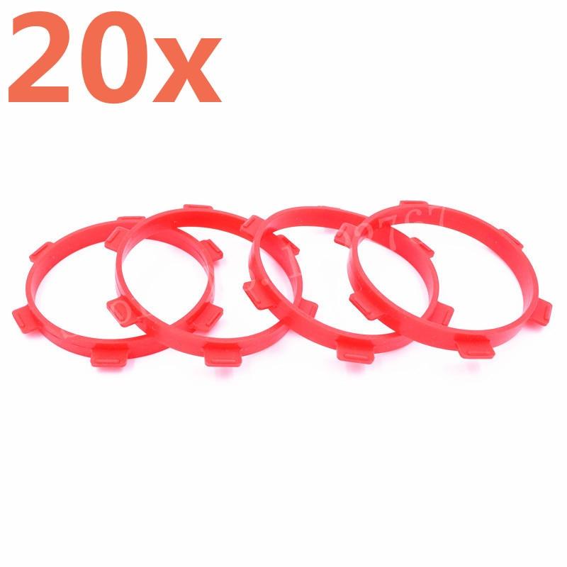 20 piezas 85mm * 10mm RC Stick Tire Ring para pegamento para neumáticos/bandas de encolado Fit 1/8 buggy 1/10 Escala de corto recorrido modelo de coche de Control remoto