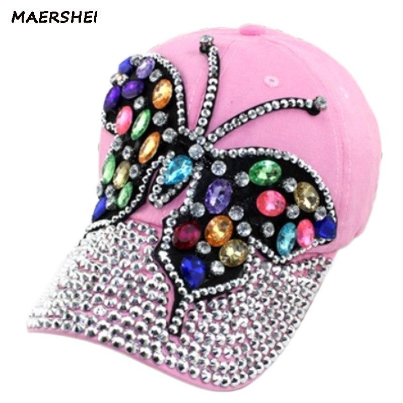 MAERSHEI Baseball Cap Female Snapback Women's Hot drilling fashion casual cap black pink cowboy hat girl bone hip hop hat