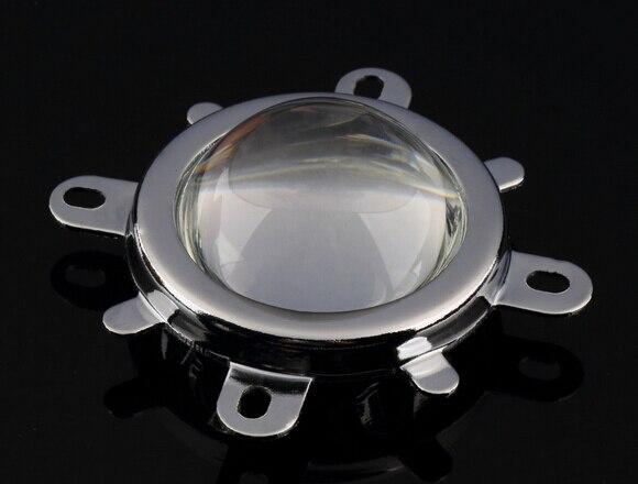 10 set/lote # UFPO-56.5 lente LED de alta calidad de 56,5mm de la lente + colimador reflector + soporte fijo para 10W LED