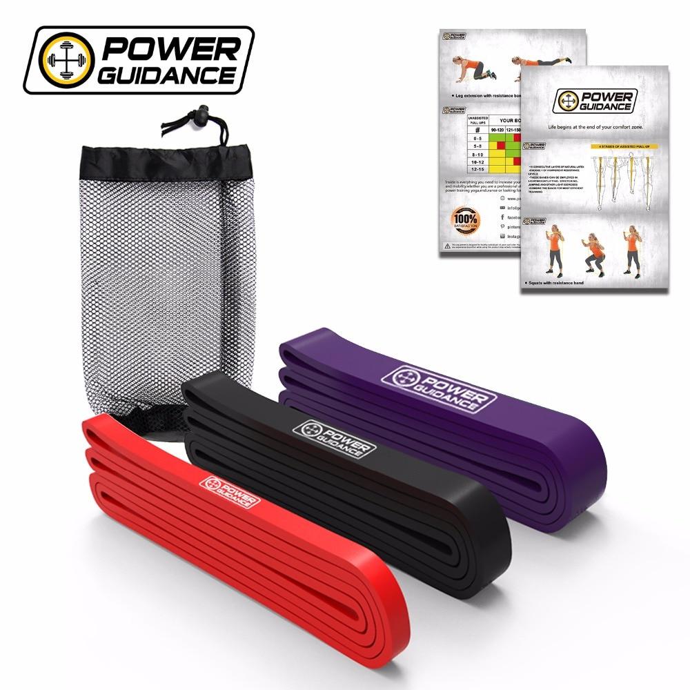 As faixas naturais da resistência do látex da orientação de energia ajustaram as faixas elásticas do gym para o equipamento do exercício do treino da aptidão
