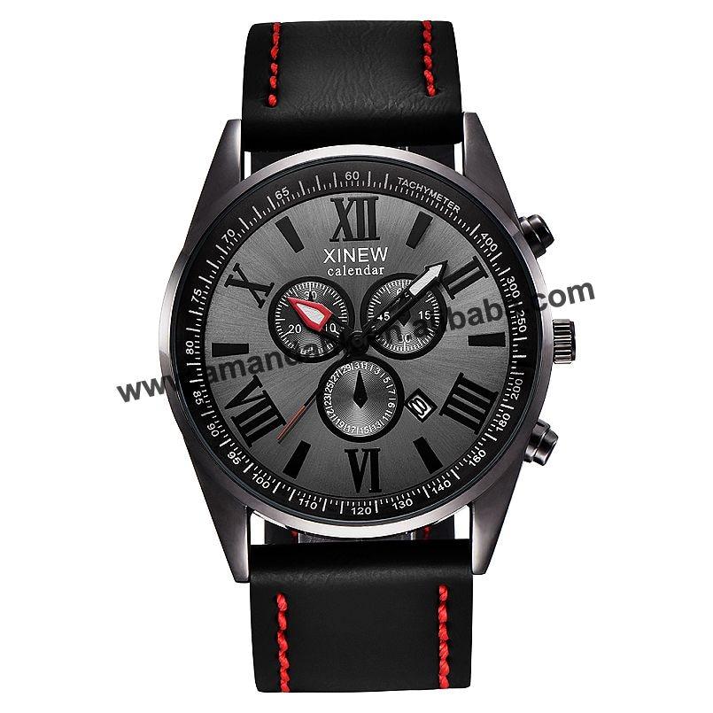 XINEW 2322-ساعة يد جلدية عادية للرجال ، ساعة يد رجالية ، كاجوال ، رياضية ، بيع بالجملة