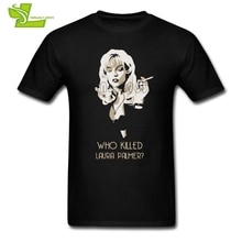 Twin Peaks Quem Matou Laura Palmer T Camisa Homem Verão em torno Do Pescoço Camisetas Legal Tshirt Adulto Moda Confortável Teenboys Tee camisas