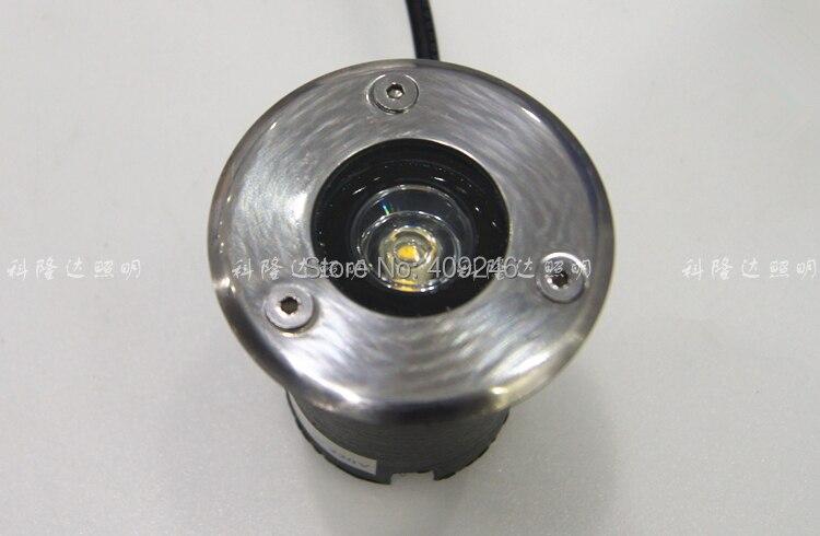10 unids/lote 1 vatio LED empotrada subterránea Luz de inundación IP65 enterrado iluminación LED al aire libre de la lámpara de luz 12 V o 24 V o AC85-265V