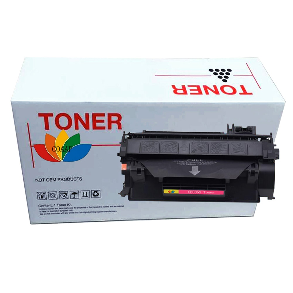 خرطوشة حبر ليزر ، سلسلة CE505X 05X ، متوافقة مع طابعة HP LaserJet P2050 P2035 P2035N P2055X P2055DN ، أسود