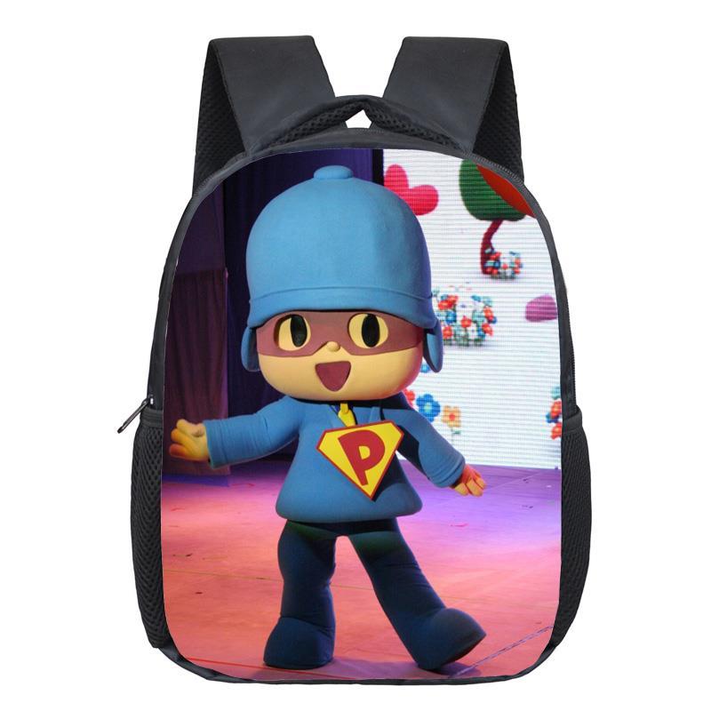 POCOYO Elly Pato Loula Backpack Students School Bags Boys Girls Daily Backpacks Children Bag Kids Best Gift Backpack