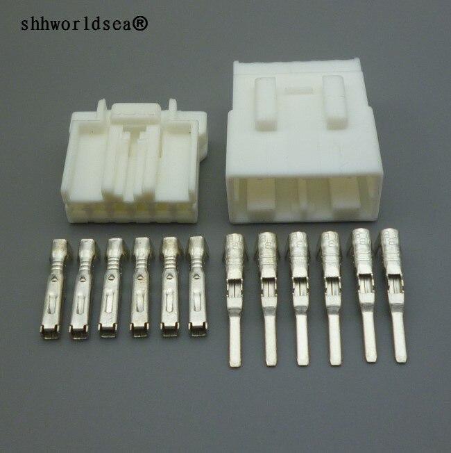 shhworldsea 1.8mm 6 Pin Electric Motorcycle Plug Female Male Automotive Connector 174930-1 174923-1