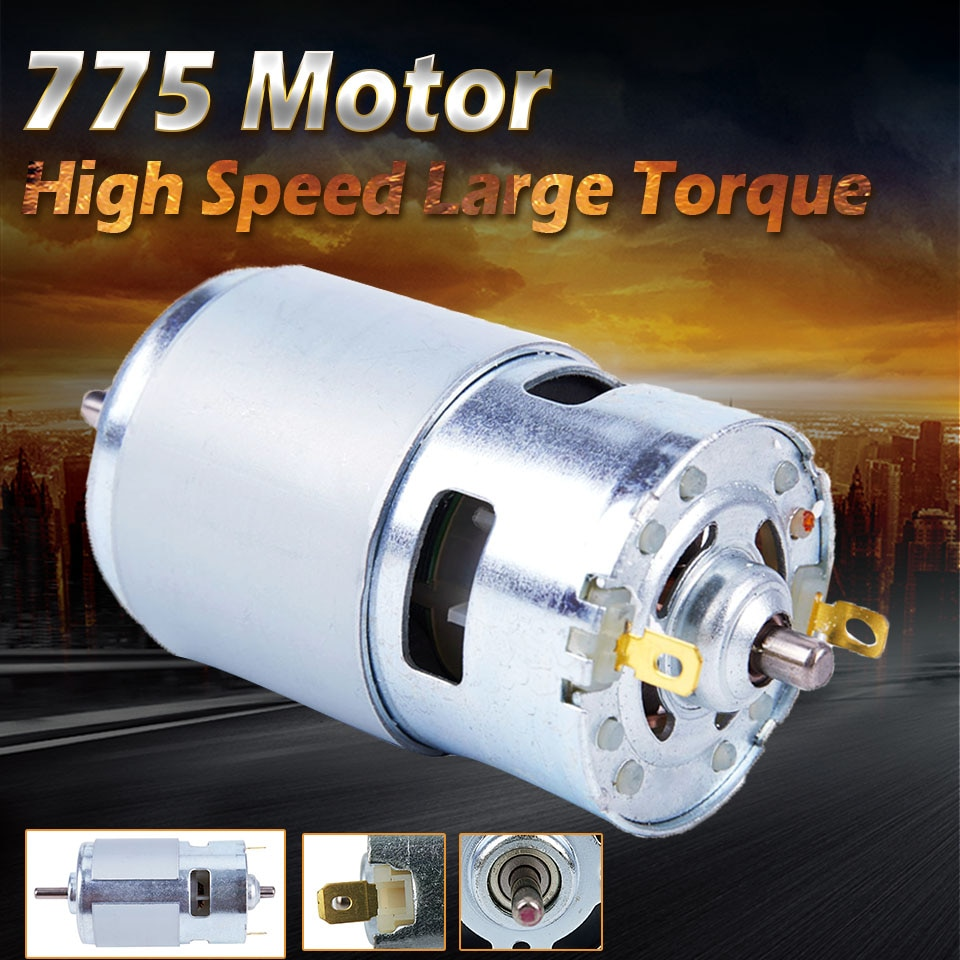 DC 12V 150W 13000 ~ 15000rpm 775 motor de alta velocidad alto par motor DC herramienta eléctrica maquinaria eléctrica