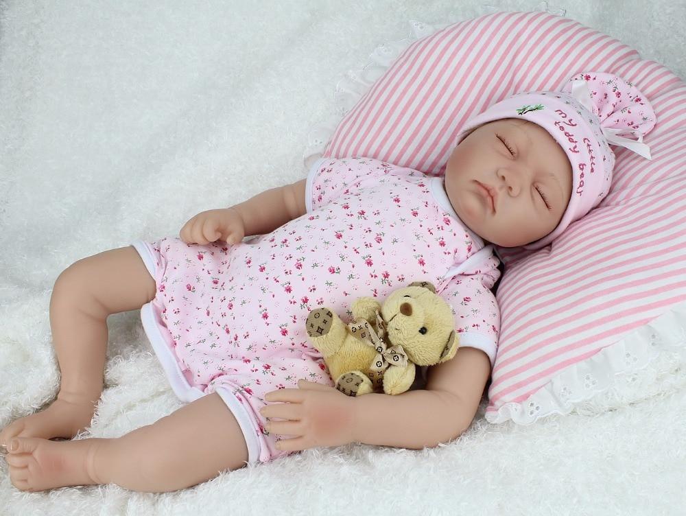 NPKDOLL 55cm muñecas reborn para dormir/silicona muñeca de vinilo para bebé juguetes para niñas 22 pulgadas bebe Brinquedos envío gratis