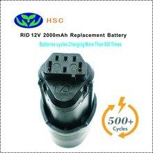 2.0Ah 18650 Bateria RID12A 12 V Substituição Bateria Li-ion Ridgid AC82008 130188001/AEG L1215 L1215P L1215R Pro Bateria