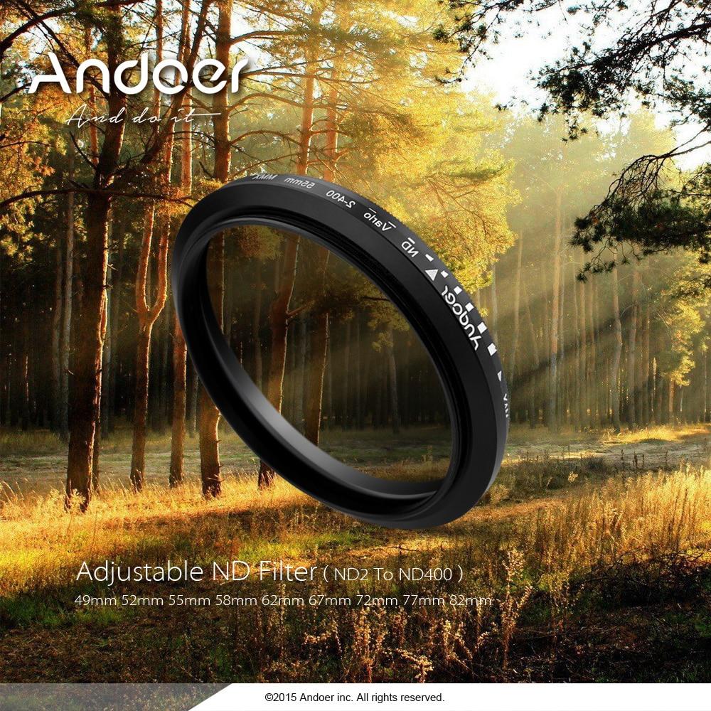 Andoer 52mm Nd Filter Fader Neutral Density Adjustable Nd2 To Nd400 Variable Optical Glass Filter For Canon Nikon Dslr Cameras Nd2 To Nd400 Filter For Canonneutral Density Aliexpress