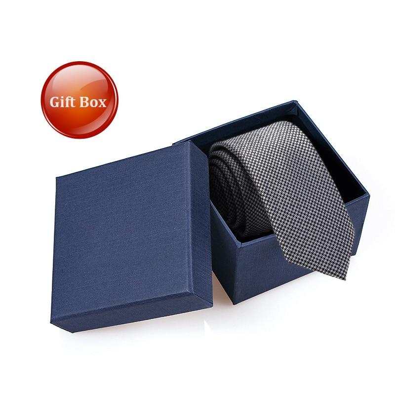 2019 Sliver Houndstooth Ties for Men 5.5cm Slim Necktie Designer Brand Skinny Mens Ties Boys Graduation Ceremony with Gift Box
