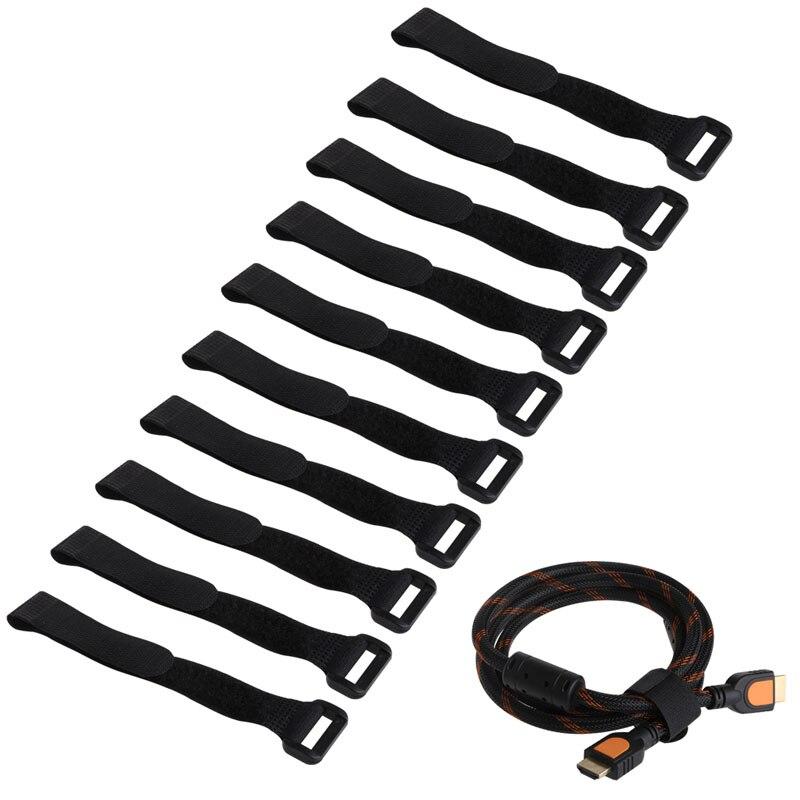 10 Uds. Correas de cables antideslizantes reutilizables resistentes de 20X2 cm para amarrar baterías RC negro/amarillo/rojo/Verde/azul