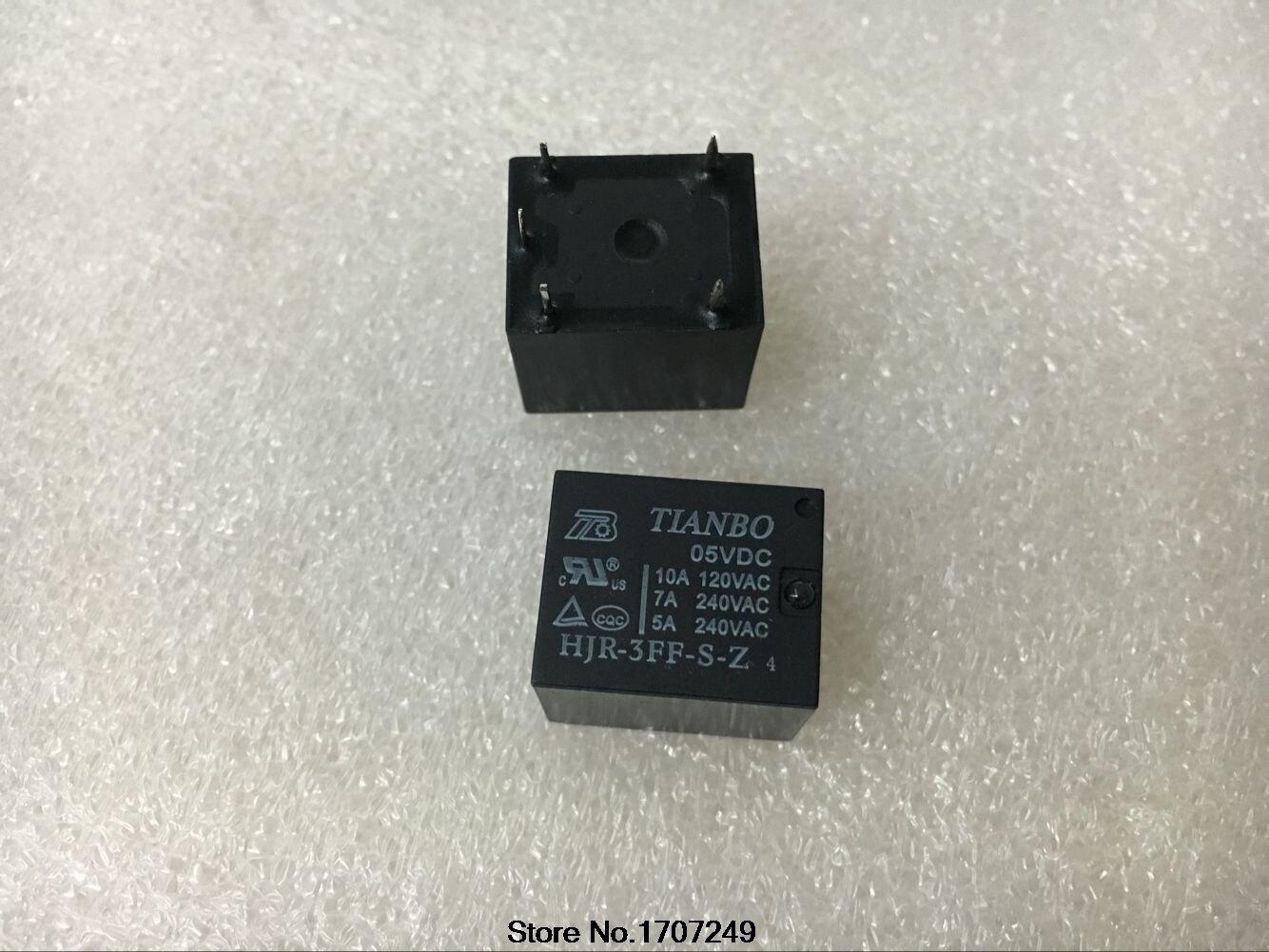 Free Shipping 100% new original relay 10pcs/lot HJR-3FF-S-Z-05VDC HJR-3FF-S-Z 05VDC 5V/5PIN/10A