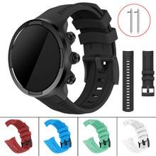 Bracelet de remplacement en Silicone souple pour Suunto 9/spartiate Sport poignet HR Baro Smartwatch Bracelet