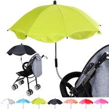 Baby Sun Rain Protecter Detachable Stroller Umbrella Adjustable Baby Pram Pushchair Cover UV  Sun Shade Parasol Outdoor Tool