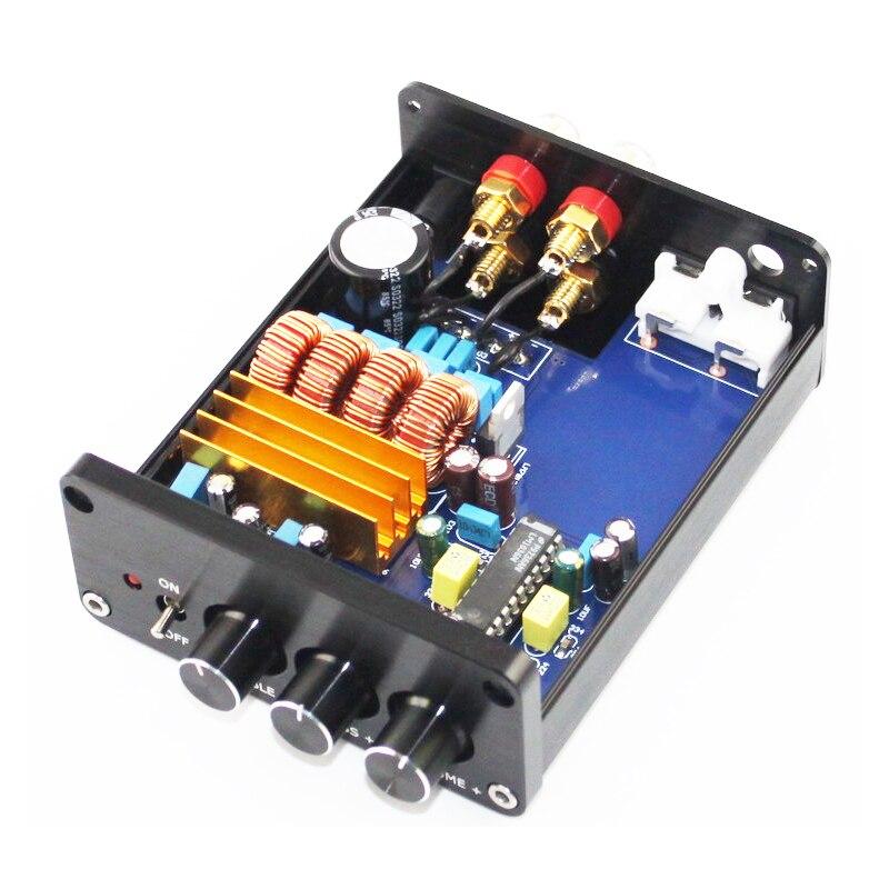 KYYSLB 2019 Мини TPA3116 + LM1036 тоновый цифровой усилитель HIFI домашний усилитель Настольный аудио Fever 50 Вт * 2 мини усилитель
