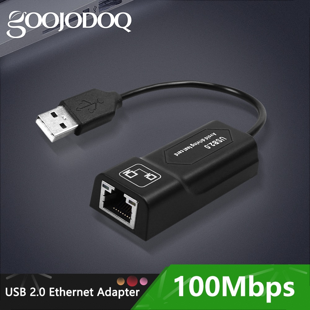 GOOJODOQ USB Ethernet Adapter USB 2.0 Network Card to RJ45 Lan for Win7/Win8/Win10 Laptop Ethernet USB
